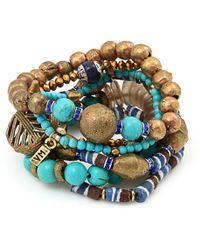 Vanessa Mooney Misty Mountain Bracelet Turquoise - Lyst