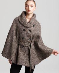 Calvin Klein Tweed Cape - Natural