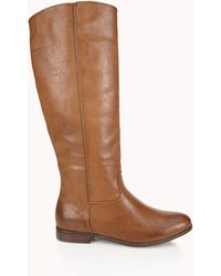 Forever 21 Staple Faux Leather Boots - Lyst