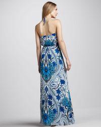 Madison Marcus - Paisleyprint Halter Maxi Dress - Lyst