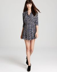 Thakoon Addition Gathered Waist Dress - Blue