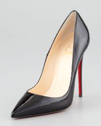 Christian Louboutin So Kate Patent Leather Point-Toe Pump red - Lyst