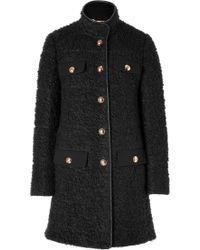 Emilio Pucci Coat in Black - Lyst
