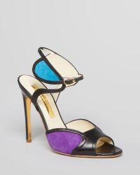 Rupert Sanderson Peep Toe Sandals Avril Ankle Strap High Heel - Lyst