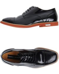 Frankie Morello Laced Shoes - Black