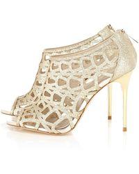 Karen Millen Glitter Sandal - Lyst
