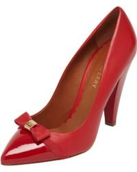 Mulberry Bow High Heel Pump - Red