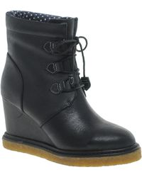 F-Troupe Wedge Heel Boot - Black