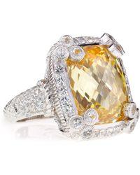 Judith Ripka Olivia Canary Cubic Zirconia Ring Size 7 - Lyst