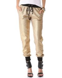 StyleStalker - Go For The Gold Trousers - Lyst