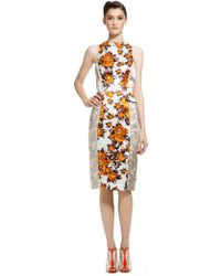 Suno Fitted Side Peplum Dress - Lyst