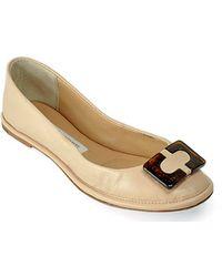 Diane von Furstenberg Brooke Nude Patent Leather Ballet Flat - Lyst