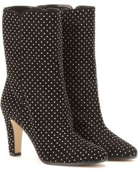 Jimmy Choo Travis Studded Suede Boots - Lyst