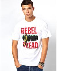 KR3W Tshirt with Rebel Dread Print - White