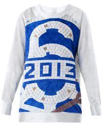 MM6 by Maison Martin Margiela Mosaic-Print Silk Sweatshirt blue - Lyst