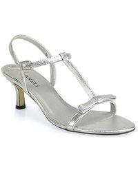Vaneli - Marielda Strappy Kitten Heel Sandal in Silver - Lyst