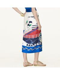 Ralph Lauren Black Label Silk Jeanette Skirt - Lyst