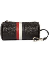 Brooks Brothers Pebble Leather Duffle Keychain - Lyst