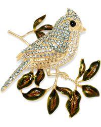 Brooks Brothers - Tufted Titmouse Audubon Brooch - Lyst