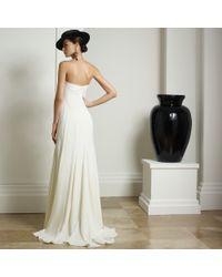 Ralph Lauren Collection Strapless Iliana Gown - Natural