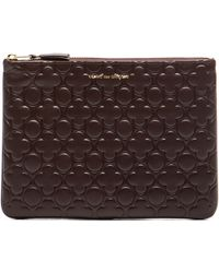 Comme des Garçons Clover Embossed Pouch brown - Lyst