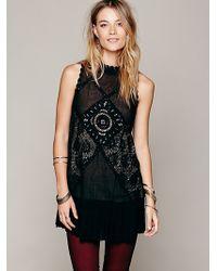 Free People Fp One Angel Lace Dress - Black