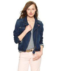 Gap Denim Moto Jacket - Blue