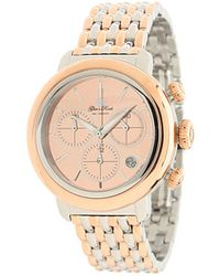 Glam Rock 40mm Twotone Rose Gold Plated Chronograph Watch with 7link Twotone Bracelet - Pink