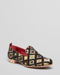 Johnston & Murphy - Johnston Murphy Smoking Flats Rea Tribal Patterned - Lyst