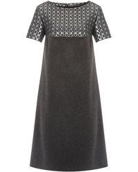 Max Mara Studio Vidim Tunic Dress with Printed Detail - Lyst