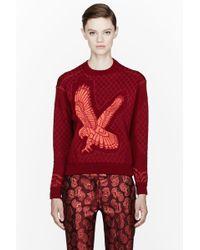 Stella McCartney Red Quilted and Embossed Kestrel Sweatshirt - Lyst