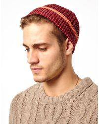 Sprayground - Asos Fisherman Beanie Hat in Twist Yarn with Contrast Tipping - Lyst