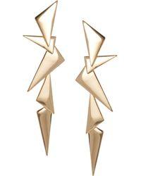 Cheap Monday - Asos Metal Shard Drop Earrings - Lyst