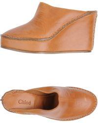 Chloé Opentoe Mules - Brown