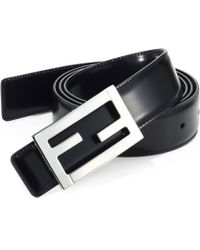 Fendi Reversible Skinny Belt - Lyst