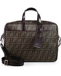 Fendi Logo Business Bag - Lyst