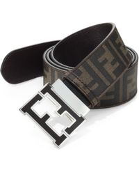Fendi Logo Reversible Belt - Lyst
