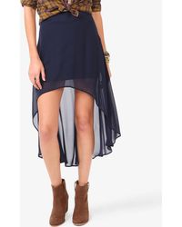 Forever 21 High-Low Chiffon Skirt - Lyst