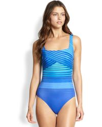 Gottex Onepiece Ocean Riley Tank Swimsuit - Lyst