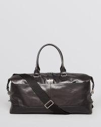 John Varvatos Leather Duffel Bag - Lyst