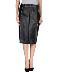 Maison Margiela Leather Skirt - Lyst