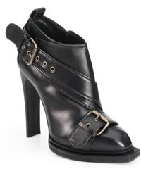 McQ by Alexander McQueen Leather Biker Ankle Boots - Lyst