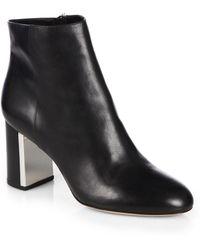 Michael Kors Vivi Leather Ankle Boots - Lyst