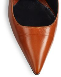 Narciso Rodriguez - Leather Cutout Pumps - Lyst