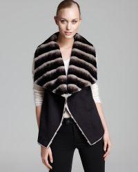 Sam Edelman - Vest Clara Suede with Faux Fur - Lyst