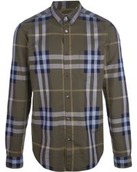 Burberry Brit Checked Button Down Shirt - Lyst