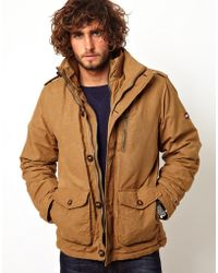 Asos Hilfiger Denim Field Jacket in Brown for Men | Lyst