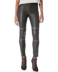 J Brand Irina Leather Moto Pants - Lyst