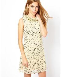 Sugarhill Heart Print Dress - Natural
