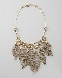 Colette Malouf - Ava Wiretassel Bib Necklace - Lyst